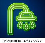 glowing neon line shower head... | Shutterstock .eps vector #1746377138