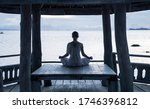 serenity and yoga practicing by ... | Shutterstock . vector #1746396812
