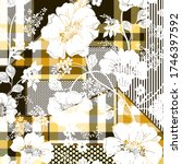 Patchwork Yellow Checks Pattern ...