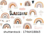 cute boho rainbow collection set   Shutterstock .eps vector #1746418865