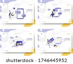 set of web page design... | Shutterstock .eps vector #1746445952