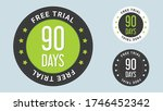 90 days free trial stamp vector ... | Shutterstock .eps vector #1746452342