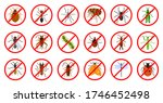 Color Flat Cartoon Insect Icon...
