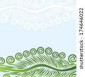 nature floral pattern... | Shutterstock .eps vector #174646022