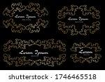 vector frame vignette in... | Shutterstock .eps vector #1746465518