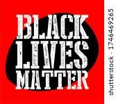 black lives matter text vector...   Shutterstock .eps vector #1746469265