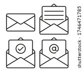 set of mail envelope icons.... | Shutterstock .eps vector #1746471785