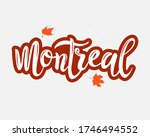 montreal hand drawn logo. ... | Shutterstock .eps vector #1746494552