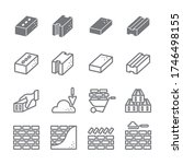 brick icon set   construction... | Shutterstock .eps vector #1746498155