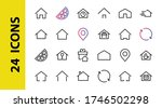 simple set of color editable... | Shutterstock .eps vector #1746502298