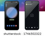 call mobile four screen... | Shutterstock .eps vector #1746502322