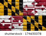 maryland state flag painted on... | Shutterstock . vector #174650378
