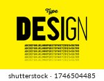 modern style font design with... | Shutterstock .eps vector #1746504485