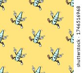 weekend call cartoon bottle... | Shutterstock .eps vector #1746516968