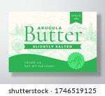 arugula salted butter dairy... | Shutterstock .eps vector #1746519125