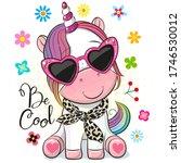 cute cartoon unicorn with sun... | Shutterstock .eps vector #1746530012