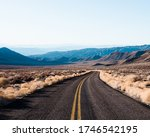 Isolated And Empty Road In The...