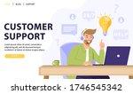 customer service  online...   Shutterstock .eps vector #1746545342