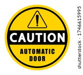caution board with message... | Shutterstock .eps vector #1746615995