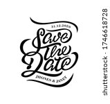 save the date typography....   Shutterstock .eps vector #1746618728