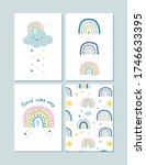 set of posters with cute...   Shutterstock .eps vector #1746633395