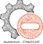 flat 2d model created from... | Shutterstock .eps vector #1746651245