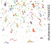 confetti background 3 | Shutterstock .eps vector #174666302