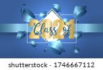 class of 2021 on bright blue... | Shutterstock .eps vector #1746667112