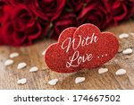 with love greeting card  - stock photo