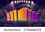 concert stage with bright... | Shutterstock .eps vector #1746686252