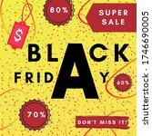 modern black friday. banner... | Shutterstock . vector #1746690005