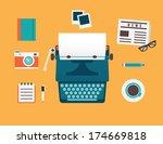 vector flat illustration of... | Shutterstock .eps vector #174669818