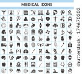medical icons set | Shutterstock .eps vector #174670202