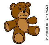 brown teddy bear | Shutterstock .eps vector #174670226