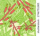 haworthia flower. leaves.... | Shutterstock .eps vector #1746751385
