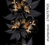 vintage luxury seamless floral...   Shutterstock .eps vector #1746757925