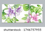 a set of 3 canvases for wall... | Shutterstock .eps vector #1746757955