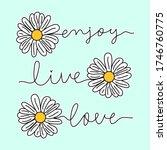 daisy flower with text  flower... | Shutterstock .eps vector #1746760775