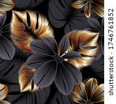vintage luxury seamless floral... | Shutterstock .eps vector #1746761852