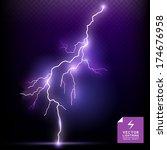 vector lightning special effect.... | Shutterstock .eps vector #174676958