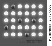 vector stage light bulbs.vector ... | Shutterstock .eps vector #174677096