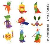 superhero vegetables in masks... | Shutterstock . vector #1746772568