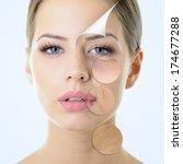 anti aging concept  portrait of ...   Shutterstock . vector #174677288
