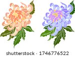 colorful flower with... | Shutterstock .eps vector #1746776522