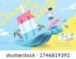 sale promotion template for icy ... | Shutterstock .eps vector #1746819392