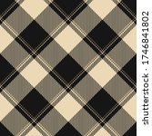 plaid pattern in gold and black.... | Shutterstock .eps vector #1746841802