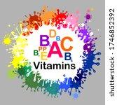 multi vitamin complex icons.... | Shutterstock .eps vector #1746852392