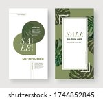 set of summer sale banner with... | Shutterstock .eps vector #1746852845