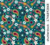 seamless pattern with flowers... | Shutterstock .eps vector #1746892868