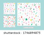 seamless pattern flowers and... | Shutterstock .eps vector #1746894875